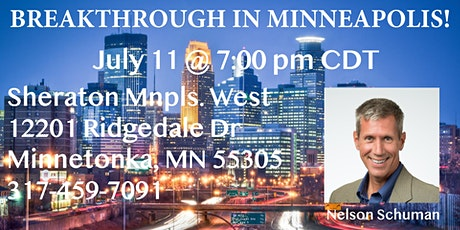 Breakthrough in Minneapolis at the Sheraton Minneapolis West Hotel tickets