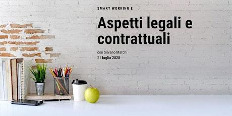 Aspetti legali e contrattuali dello Smart Working biglietti