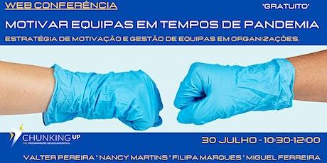 Webconferência - Motivar Equipas em Tempos de Pandemia bilhetes