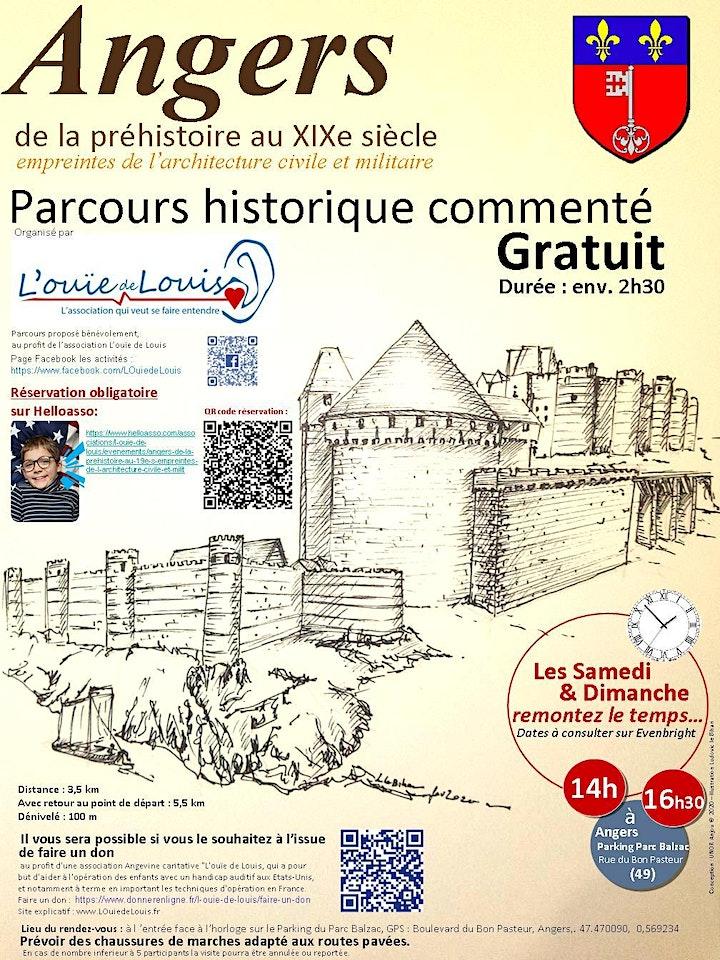 Image pour Angers, de la préhistoire au 19e s, empreintes de l'architecture civ & mili