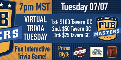 Virtual Trivia Tuesday w/ PM Trivia - Tavern Hospitality Group tickets