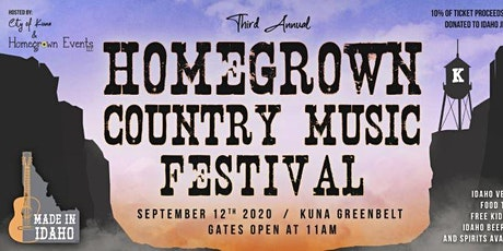 HomeGrown Country Music Festival 2020 tickets