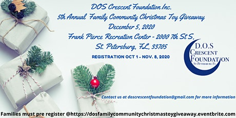 D.O.S. Crescent Foundation Inc. 5th Annual Family Christmas Toy Giveaway tickets