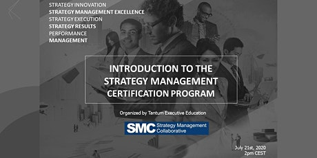PRESENTING THE STRATEGY MANAGEMENT CERTIFICATION PROGRAM tickets