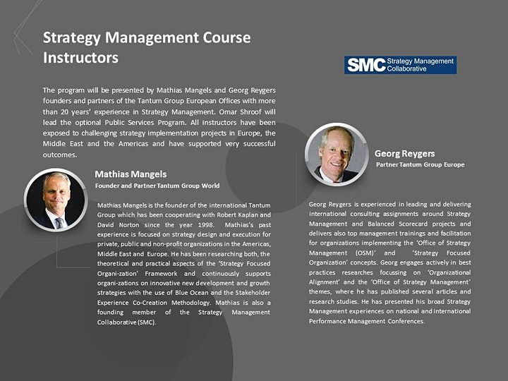 PRESENTING THE STRATEGY MANAGEMENT CERTIFICATION PROGRAM image