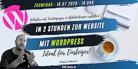 In 2 Stunden zur Website (mit Wordpress)! Tickets