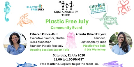 Sustainability Tribe Community Event: Plastic Free July (Rebecca's Talk) tickets