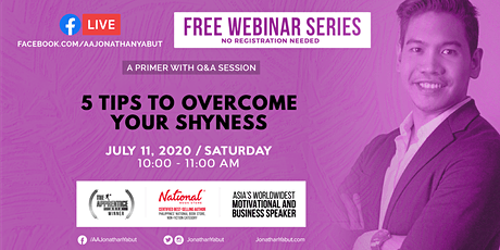 FREE Webinar: 5 Tips to Overcome Your Shyness (July 11, 10AM) tickets