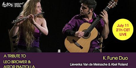 Homenaje a Astor Piazzolla y Leo Brouwer entradas