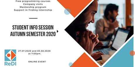 ReDI Munich: Student Info Session Aututmn Semester 2020 #2 tickets