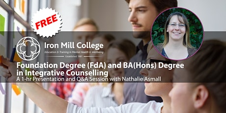 FdA/BA(Hons) Counselling Degree - Live Course Seminar and Q&A (14th July) tickets