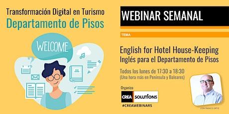Transformación Digital en Turismo - Inglés para Departamento de Pisos entradas