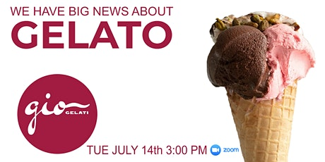 GIO Gelati Has Something Big To Share With You! tickets