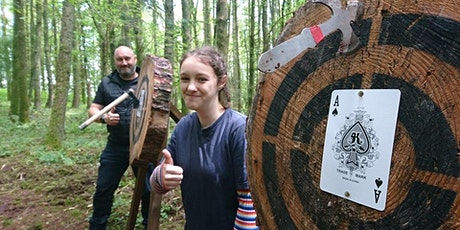 Private Axe throwing event - 1 hr 15 mins for 4+ people age 9+, Bridgend tickets