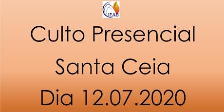 Culto Presencial - Santa Ceia ingressos
