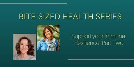 Bite Sized Health Series - Support your Immunity Resilience Part Two tickets