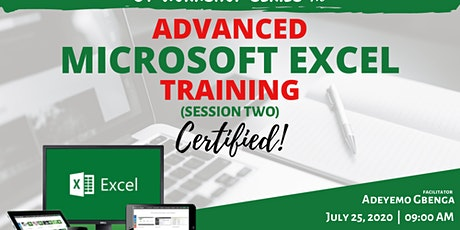 GT Workshop Series 1.0 - Advanced Microsoft Excel Training (Certified): TWO tickets