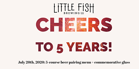 5 Years, 5 Beers pairing menu (8:00 seating, sold by table of 1-4) tickets