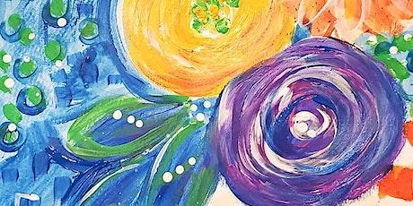 8/12 $22 Vibrant Flowers  @ Paint Like ME Studio tickets