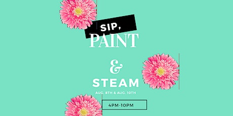 Sip,  paint,  and steam tickets