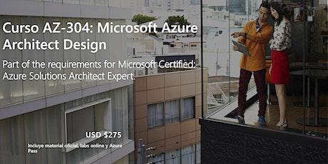 Curso AZ-304: Microsoft Azure Architect Design ingressos