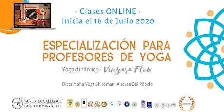 Certificación Internacional Yoga Dinámico Vinyasa Flow (Argentina) entradas