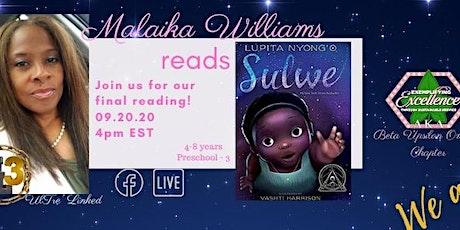 Malaika Williams reads Sulwe by Lupita Nyong'o tickets