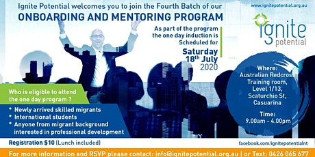 Onboarding and mentoring program for newly arrived migrants tickets