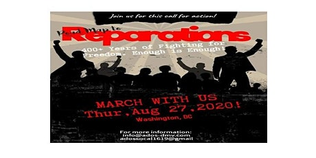RoadMap to Reparations March 2020 tickets