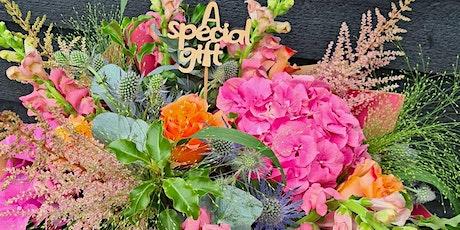 Summer hand tied bouquet workshop tickets
