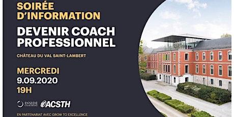 Soirée d'information: Académie de Coaching Liège billets
