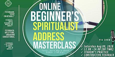 MASTERCLASS - How to prepare your Spiritualist Address tickets