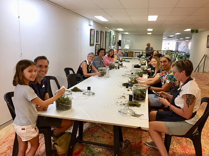 Mother's day event Waterfall terrarium workshop image