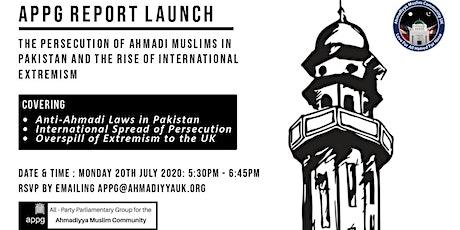 APPG Report Launch biglietti