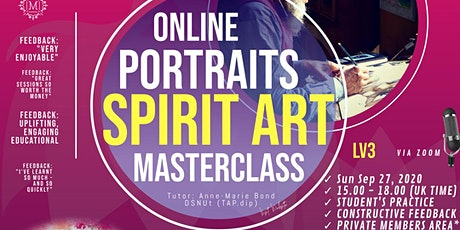 Masterclass Spirit Art - Spirit Portraits and the Story (Lv3) tickets