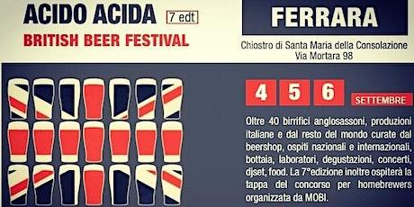 ACIDO ACIDA FERRARA BRITISH BEER FESTIVAL 7°edizione biglietti