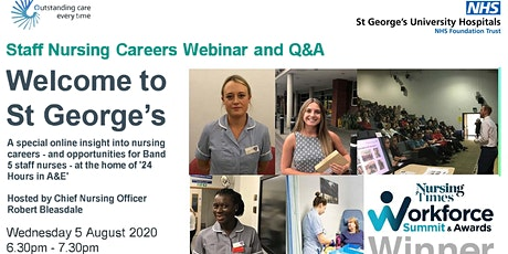 Nursing Careers at the home of 24 Hours in A&E - webinar with Chief Nurse tickets