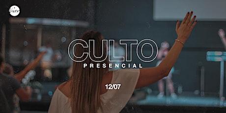 Culto Presencial |  12/07 ingressos