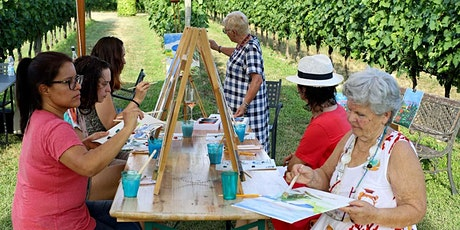 Colour Me Wine! Painting in the vineyard tasting food and wine tickets