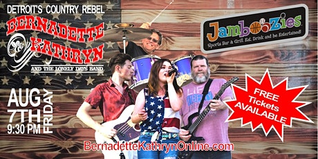 Bernadette Kathryn and the Lonely Days Band Live at Jamboozies tickets
