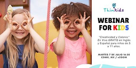 """Webinar For Kids  - """"Creatividad y Colores"""" por ThinKids entradas"""