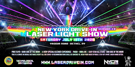 NY Drive-In Laser Light Show 2 tickets