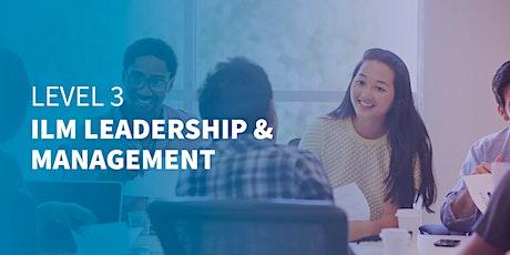 Level 3 ILM Leadership & Management   West Midlands   Online Training tickets