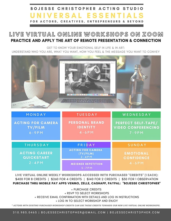 ACTING SELF-TAPE SESSIONS (TV/FILM) LIVE VIRTUAL VIA FACETIME  + ZOOM image
