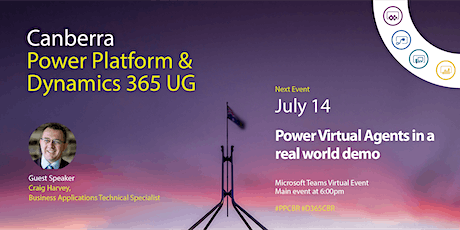 Canberra Power Platform & Dynamics 365 UG tickets