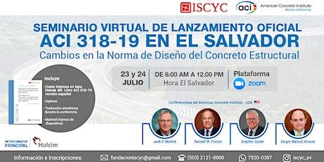 Seminario Virtual de Lanzamiento Oficial ACI 318-19  en El Salvador entradas