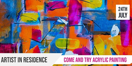 Glandore | Artist in Residence | Come and try acrylic painting tickets