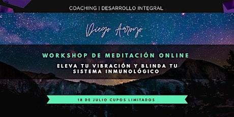 Workshop Meditación : Eleva tu vibración y blinda tu sistema inmunológico tickets