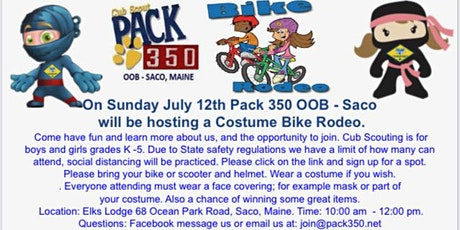 Bike Rodeo - Signup Event - Sunday July 12 tickets