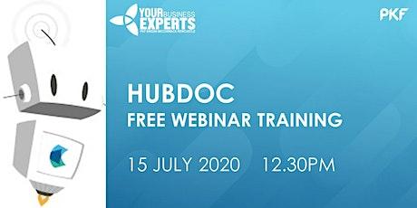Hubdoc  - the basics, webinar training tickets